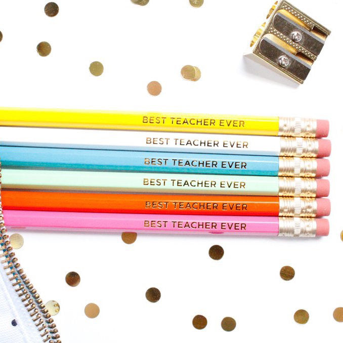 BEST TEACHER EVER PENCIL SET - Give Lovely