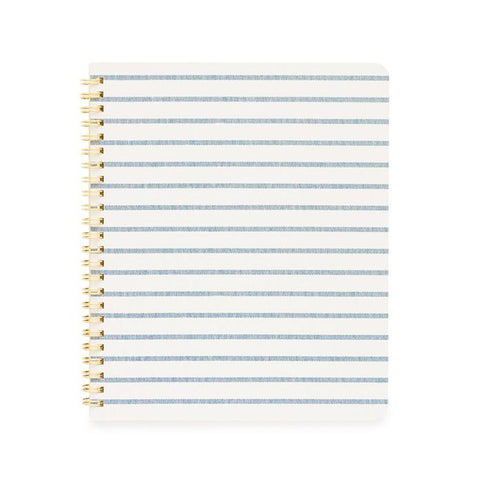BLUE BRETON STRIPE NOTEBOOK - Give Lovely
