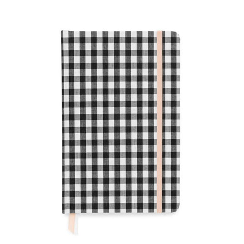 ESSENTIAL JOURNAL: BLACK AND WHITE GINGHAM - Give Lovely