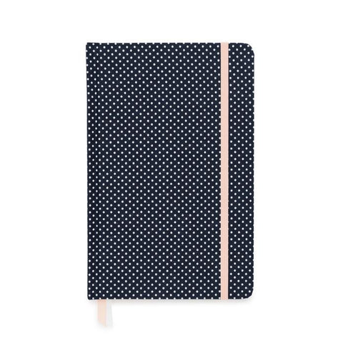 ESSENTIAL JOURNAL: NAVY WITH WHITE DOT - Give Lovely