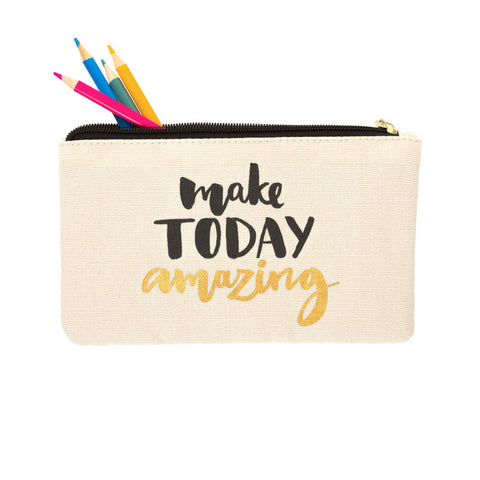 MAKE TODAY AMAZING COLORED PENCIL POUCH