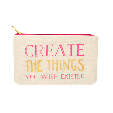 CREATE THINGS COLORED PENCIL POUCH - Give Lovely