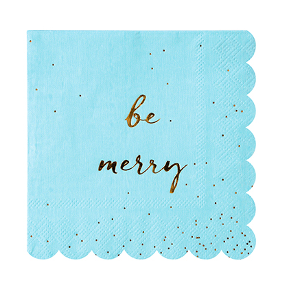 BE MERRY GLITTER NAPKINS - Give Lovely