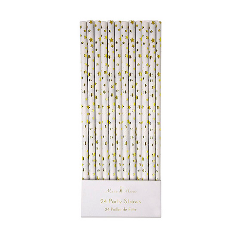 GOLD STAR PARTY STRAWS