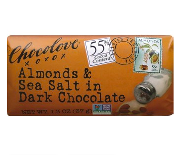 MINI ALMOND & SEA SALT DARK CHOCOLATE BAR