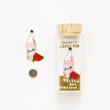 ROSÉ AND ROSE LAPEL PIN