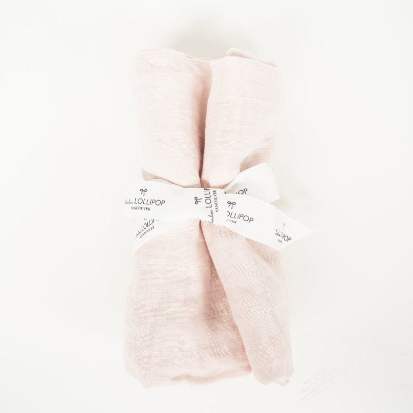 LUXE MUSLIN SWADDLE - DOGWOOD PINK