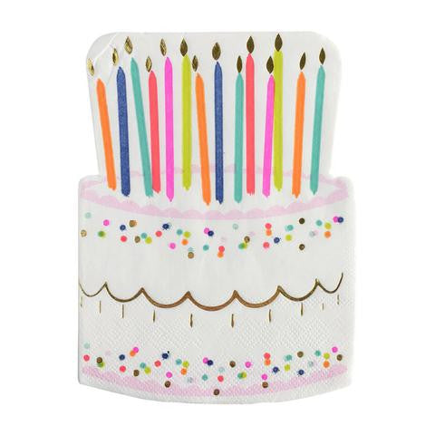 BIRTHDAY CAKE NAPKINS - Give Lovely