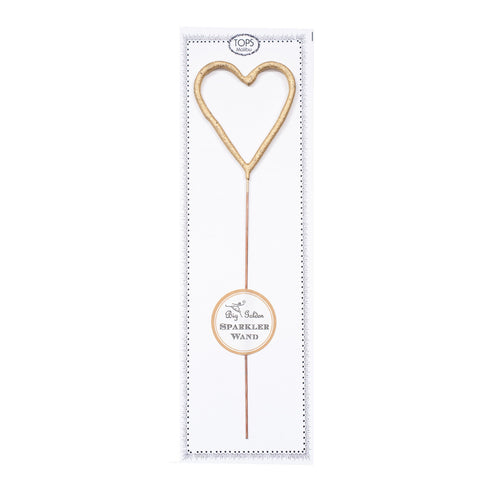 BIG GOLDEN SPARKLER WAND HEART - Give Lovely