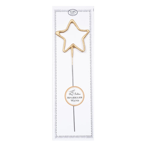 BIG GOLDEN SPARKLER WAND STAR - Give Lovely