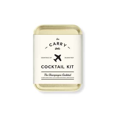 THE CHAMPAGNE COCKTAIL CARRY ON COCKTAIL KIT