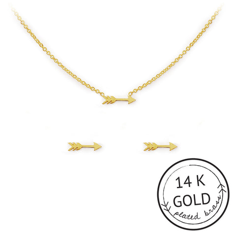 ARROW NECKLACE & EARRING SET - Give Lovely