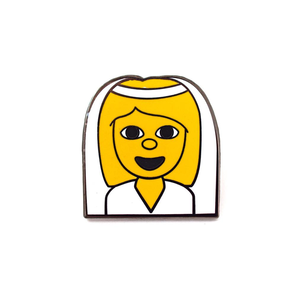 BRIDE EMOJI PIN