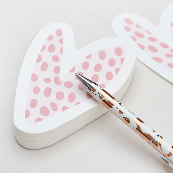 ROSE TINTED HEART NOTEPAD
