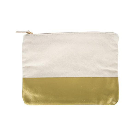GOLD COLORBLOCK POUCH