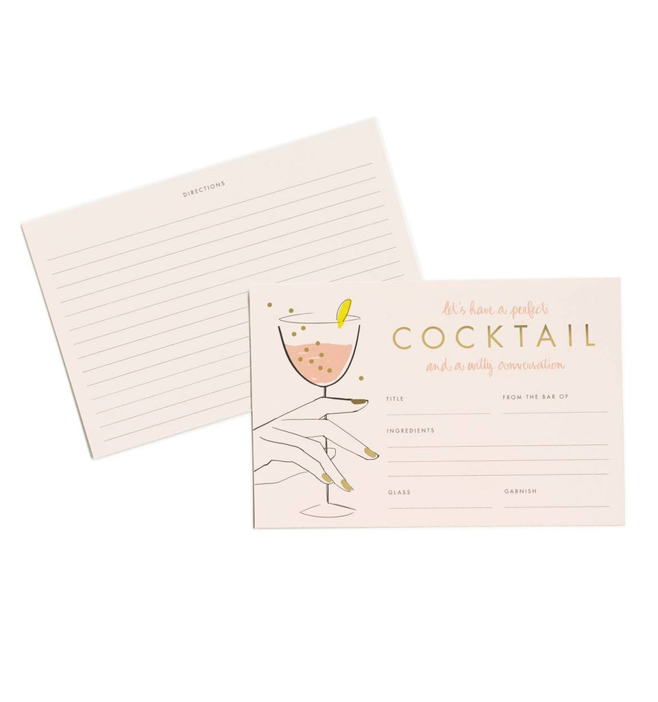 PERFECT COCKTAIL RECIPE CARDS