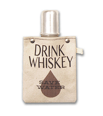 DRINK WHISKEY CANVAS FLASK - Give Lovely