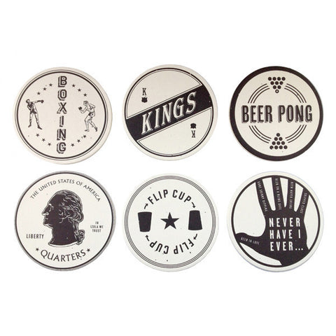 DRINKING GAMES COASTER SET - Give Lovely