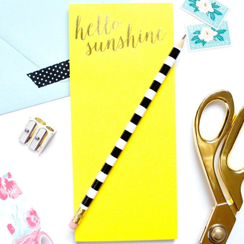 HELLO SUNSHINE NOTEPAD - Give Lovely