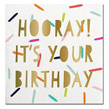 HOORAY IT'S YOUR BIRTHDAY NAPKINS