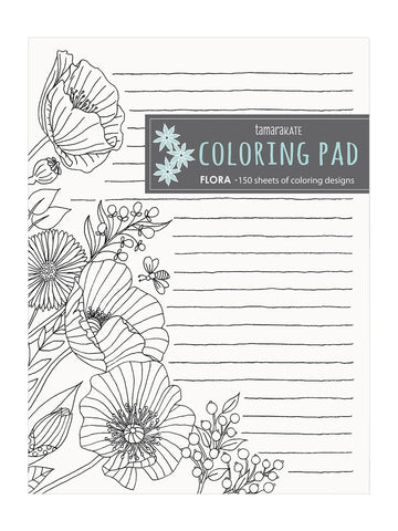 FLORA COLORING NOTEPAD