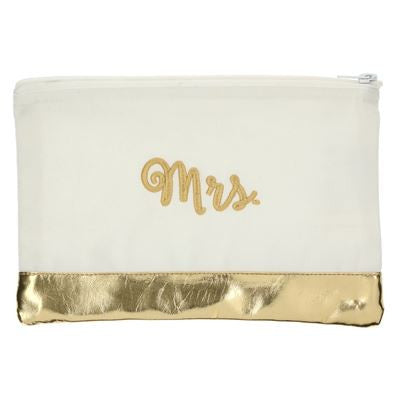 METALLIC BLOCK POUCH - PERSONALIZED