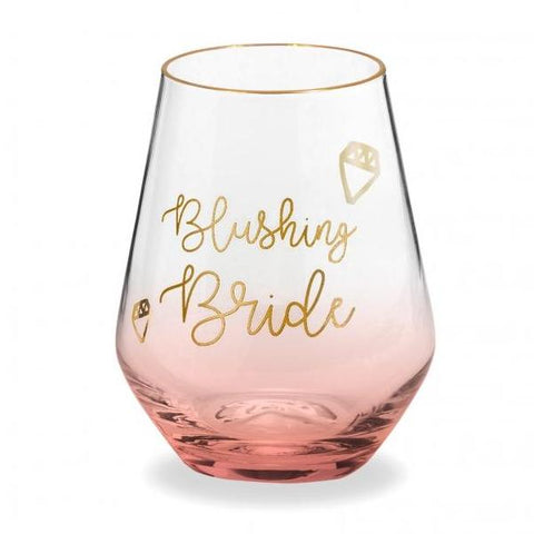 BLUSHING BRIDE WINE GLASS - Give Lovely