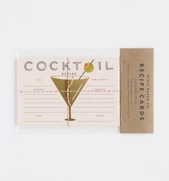 COCKTAIL RECIPE CARDS