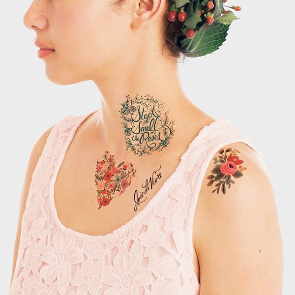 FLORAL TATTOO SET