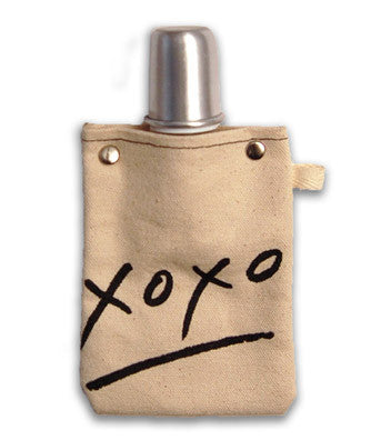 XOXO CANVAS FLASK