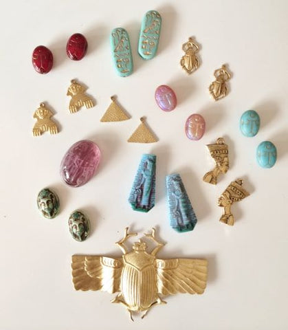 Egyptian charms and beads