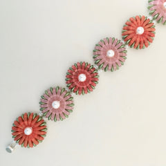 chrysanthemum bracelet red