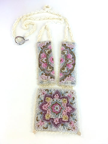 bead embroidery necklace by Debbye Mika