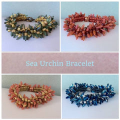 sea urchin bracelets in a variety of colors