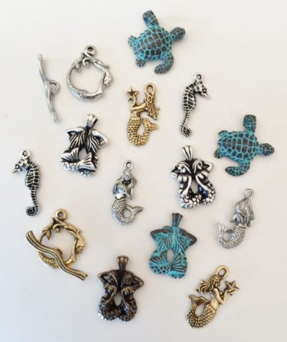 mermaid charms and toggles