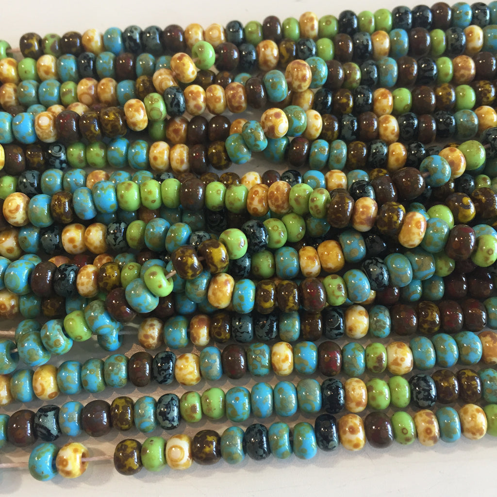 aged mosaic picasso seed bead mix