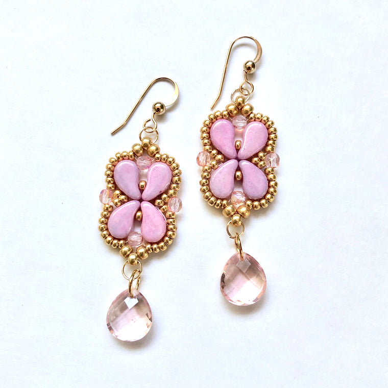Arabesque Earrings Kit - Pink Ice