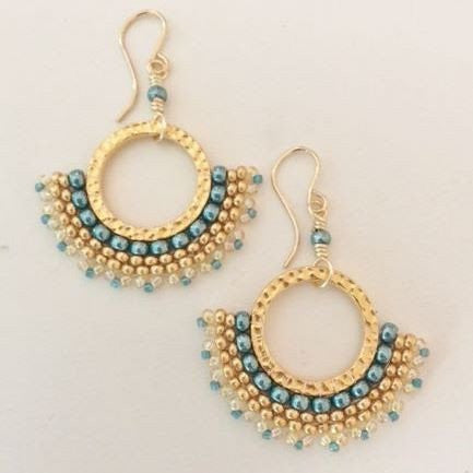 beaded corona earrings