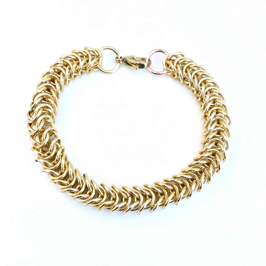 Box Link Chain Maille Bracelet Kit