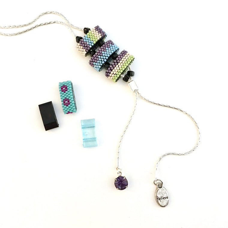 carrier bead slide necklace