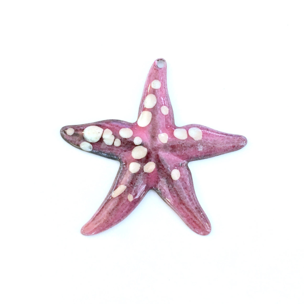 large starfish enamel charm