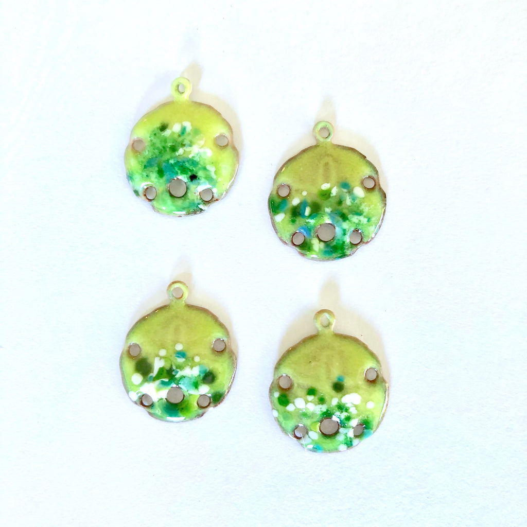 lime green sand dollar charms