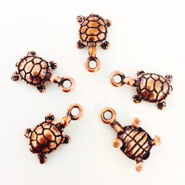 copper sea turtle charms