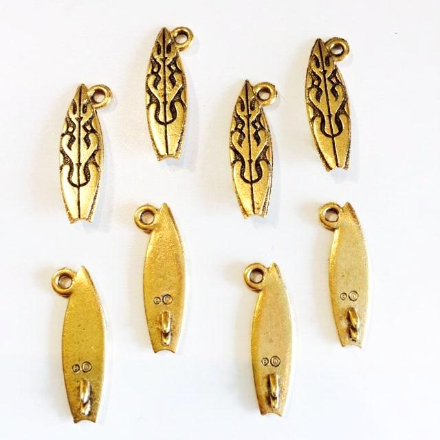 gold surfboard charms
