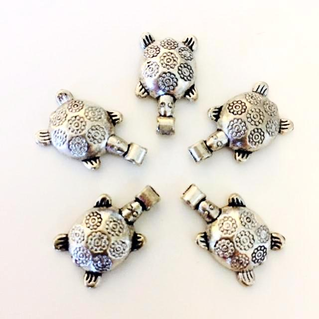 silver sea turtle charms