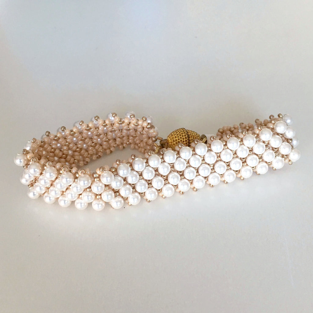 Grace-kelly-netted-bracelet-Island-Cove-Beads-&-Gallery