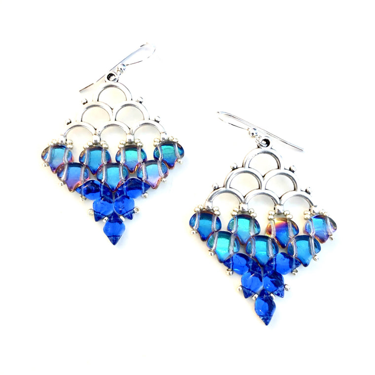 Mermaid Earrings kit - Blue Lagoon