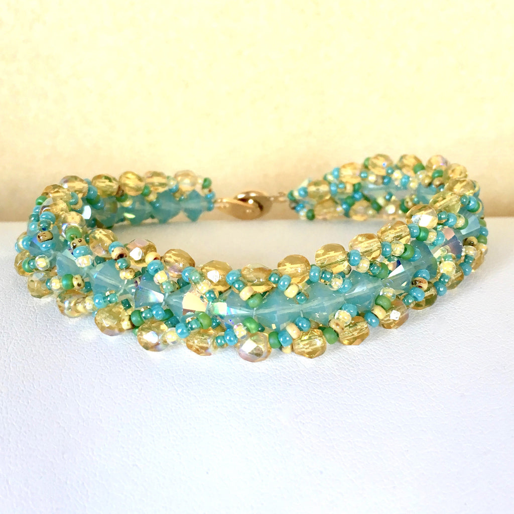 Beach Bling Bracelet in Key West with Gold Clasp