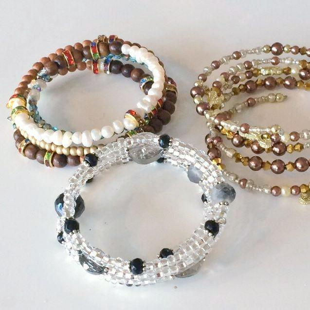 Memory Wire Bracelet workshop Island Cove Beads & Gallery