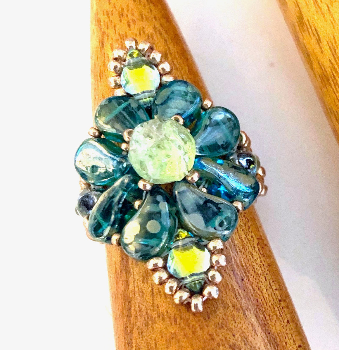 Paisley Dot Ring Kit - Aqua Lime